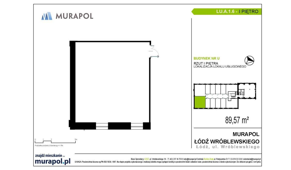 Komercyjne w inwestycji Nowa Przędzalnia - lokale usługowe, Łódź, 90 m² | Morizon.pl | 1063