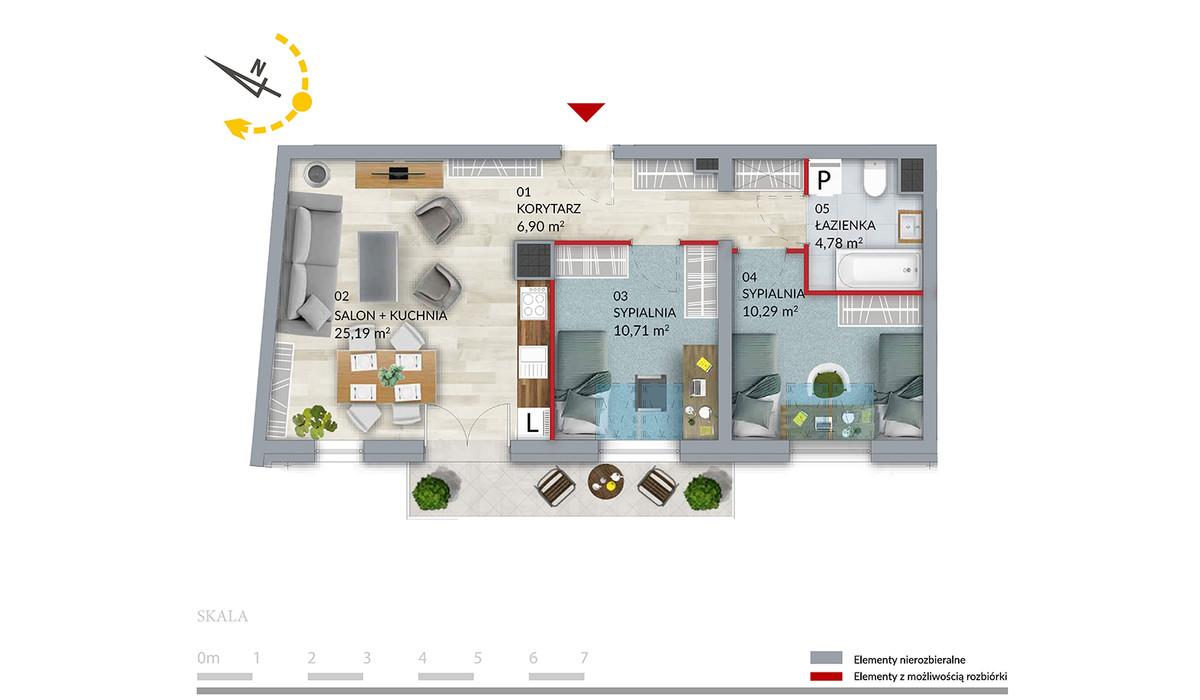 Mieszkanie w inwestycji Willa Słonimska, Białystok, 57 m² | Morizon.pl | 0496