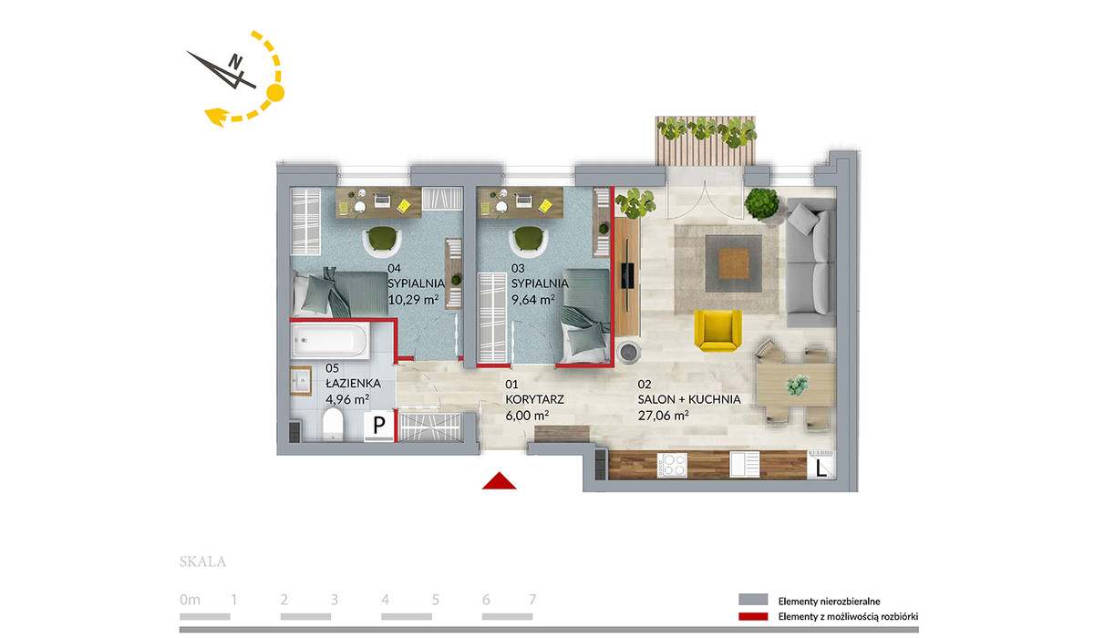 Mieszkanie w inwestycji Willa Słonimska, Białystok, 57 m² | Morizon.pl | 0517