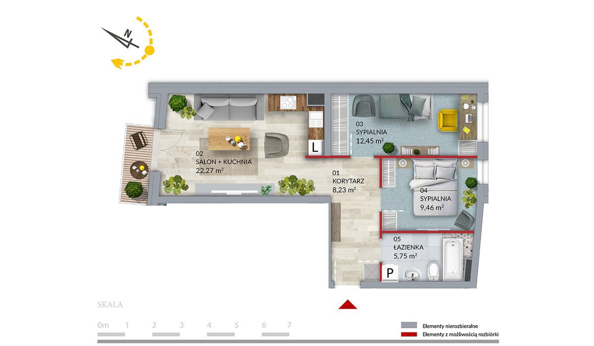 Mieszkanie w inwestycji Willa Słonimska, Białystok, 58 m² | Morizon.pl | 0506