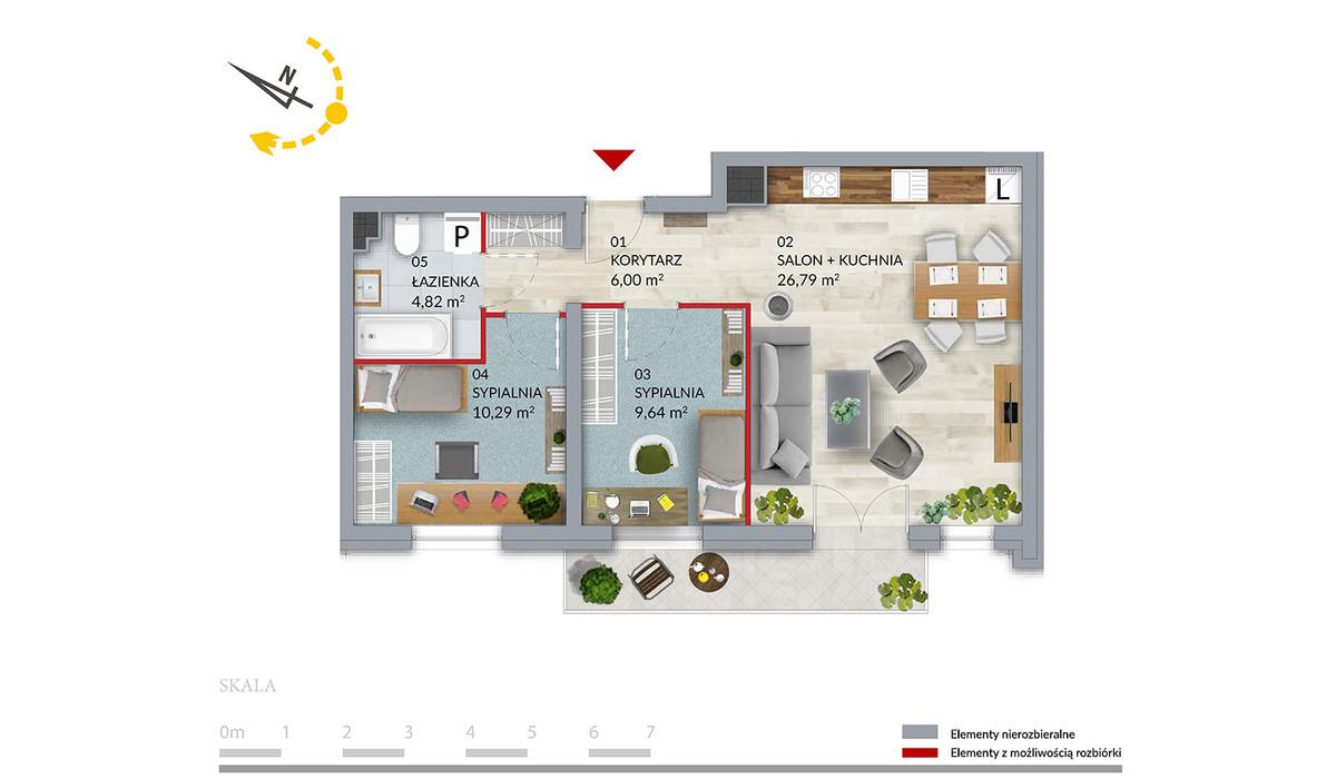 Mieszkanie w inwestycji Willa Słonimska, Białystok, 57 m² | Morizon.pl | 0403