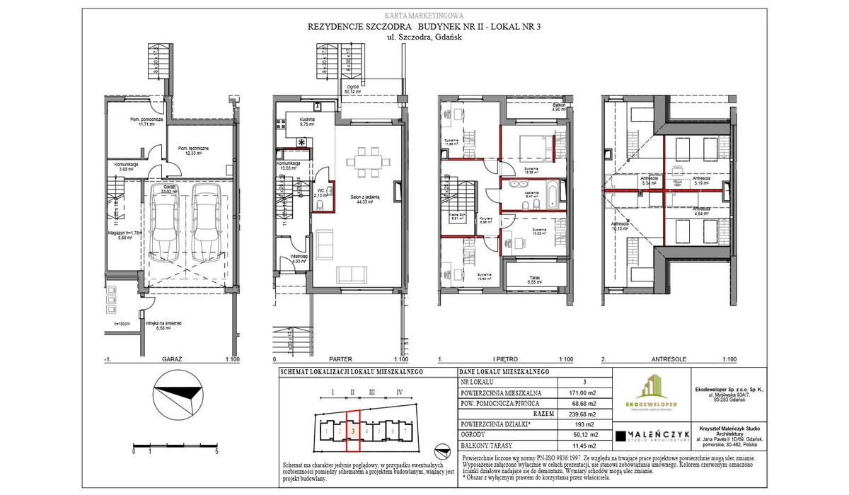 Dom w inwestycji Rezydencje Szczodra, Gdańsk, 240 m² | Morizon.pl | 9467