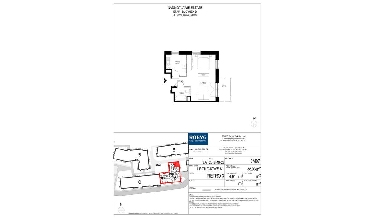 Mieszkanie w inwestycji Nadmotławie Estate, Gdańsk, 38 m² | Morizon.pl | 4254