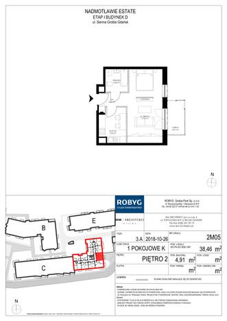 Mieszkanie w inwestycji Nadmotławie Estate, Gdańsk, 38 m² | Morizon.pl | 4241