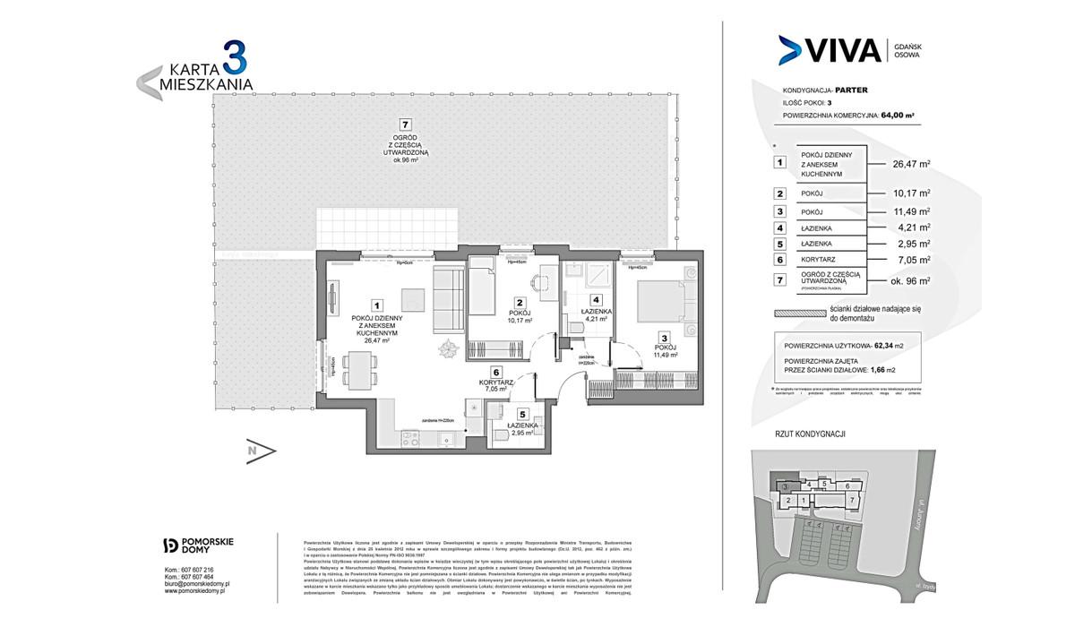Mieszkanie w inwestycji VIVA, Gdańsk, 64 m² | Morizon.pl | 9932