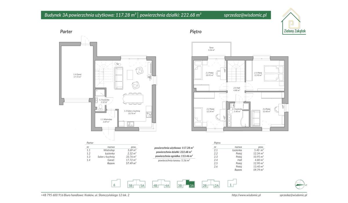 Dom w inwestycji ZIELONY ZAKĄTEK, Kraków, 113 m²   Morizon.pl   2888