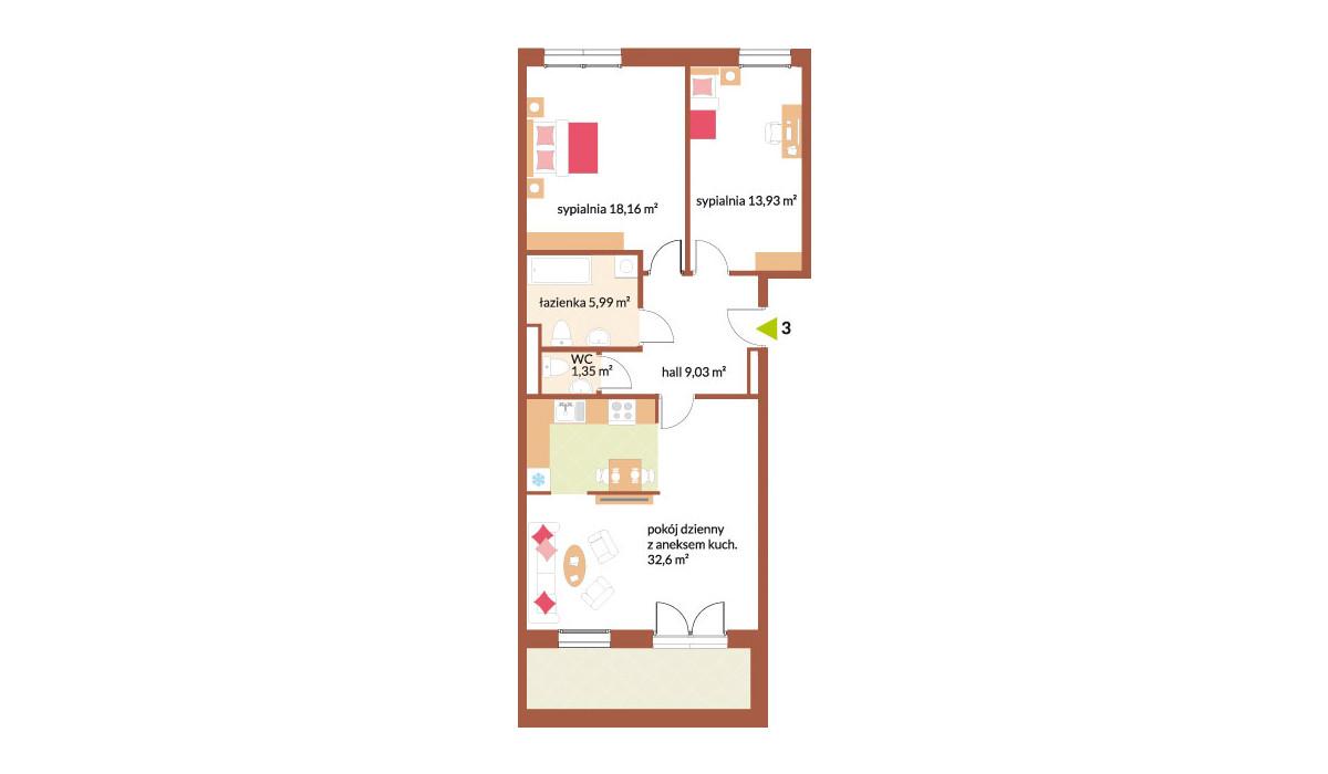 Mieszkanie w inwestycji Fabryka Czekolady, Kraków, 81 m² | Morizon.pl | 7215