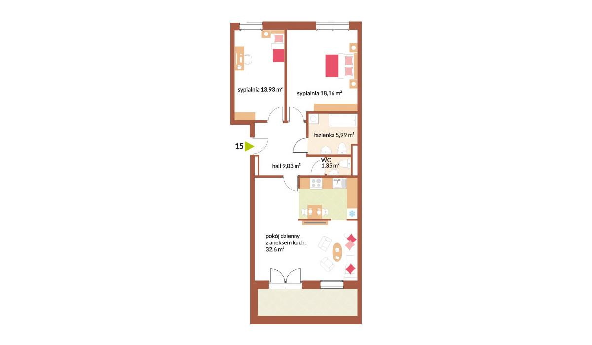 Mieszkanie w inwestycji Fabryka Czekolady, Kraków, 81 m² | Morizon.pl | 7227