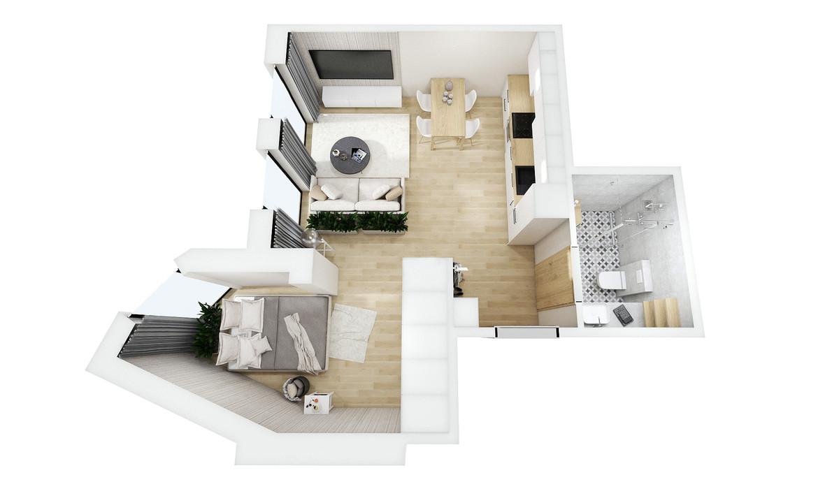 Mieszkanie w inwestycji Barlickiego 7, Bielsko-Biała, 39 m²   Morizon.pl   0198