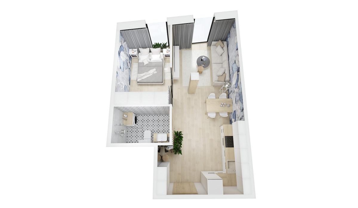 Mieszkanie w inwestycji Barlickiego 7, Bielsko-Biała, 40 m²   Morizon.pl   0102