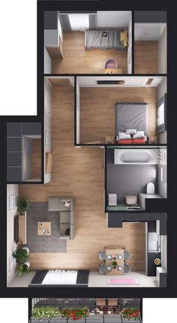 Mieszkanie w inwestycji Leśnica, Wrocław, 65 m² | Morizon.pl | 3855