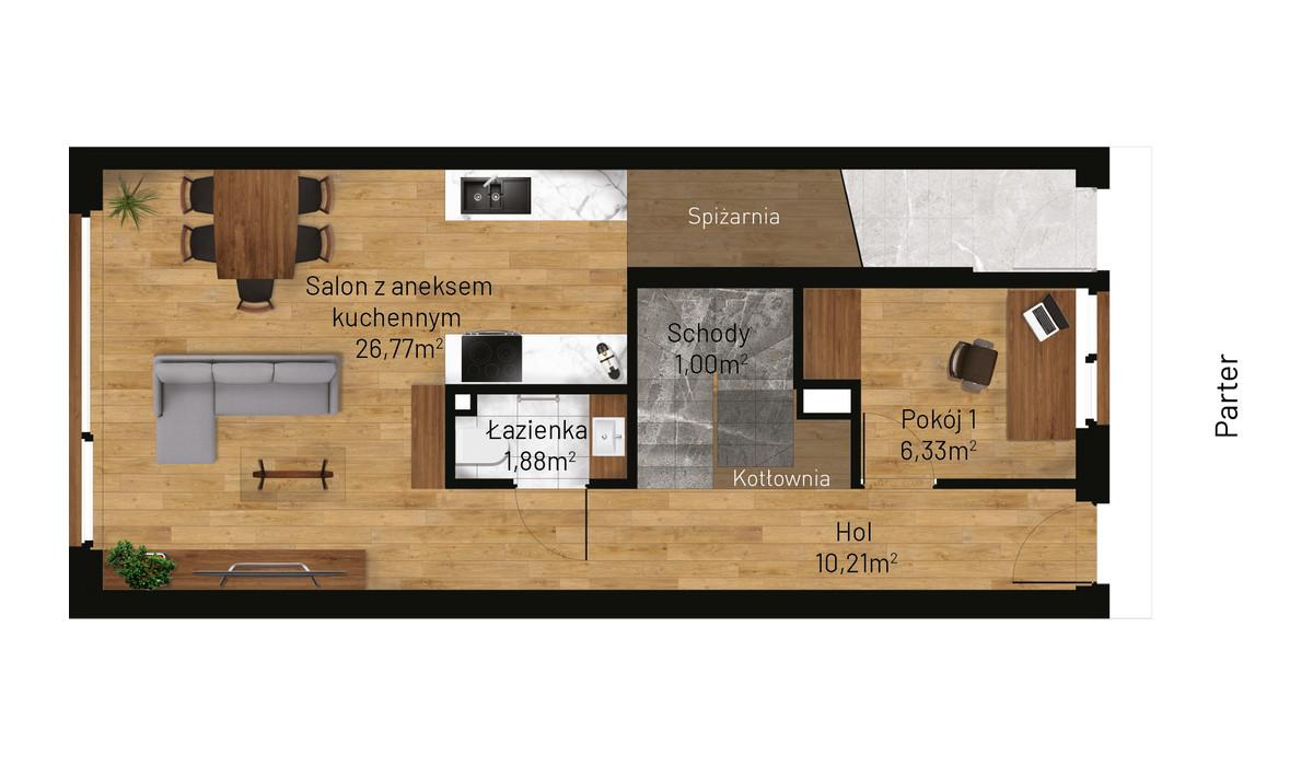 Mieszkanie w inwestycji Jordanowska, Kraków, 89 m² | Morizon.pl | 0871