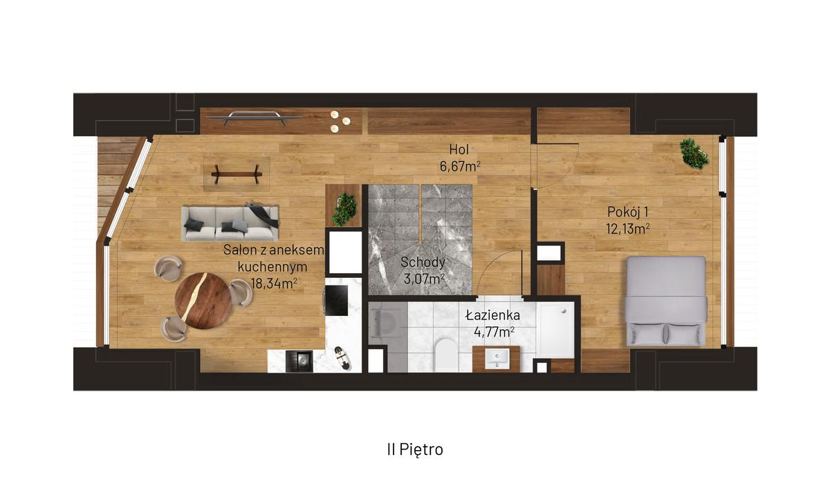 Mieszkanie w inwestycji Jordanowska, Kraków, 45 m² | Morizon.pl | 0874