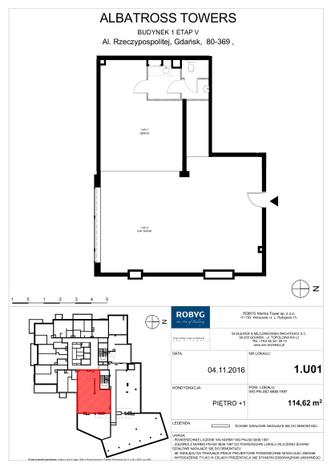 Komercyjne w inwestycji Albatross Towers, Gdańsk, 115 m² | Morizon.pl | 7449