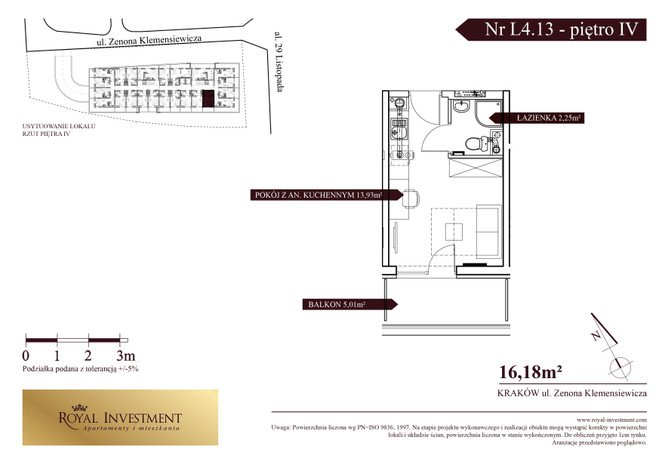 Mieszkanie w inwestycji ROYAL STUDIOS SMART APARTAMENTS, Kraków, 16 m² | Morizon.pl | 5605