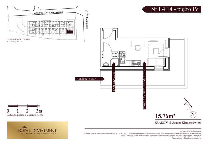 Mieszkanie w inwestycji ROYAL STUDIOS SMART APARTAMENTS, Kraków, 16 m²   Morizon.pl   5606