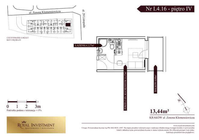 Mieszkanie w inwestycji ROYAL STUDIOS SMART APARTAMENTS, Kraków, 13 m² | Morizon.pl | 5608