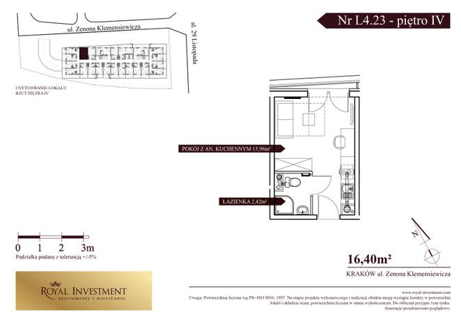 Mieszkanie w inwestycji ROYAL STUDIOS SMART APARTAMENTS, Kraków, 16 m² | Morizon.pl | 5616