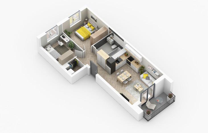 Mieszkanie w inwestycji Golden Space, Warszawa, 59 m² | Morizon.pl | 5749
