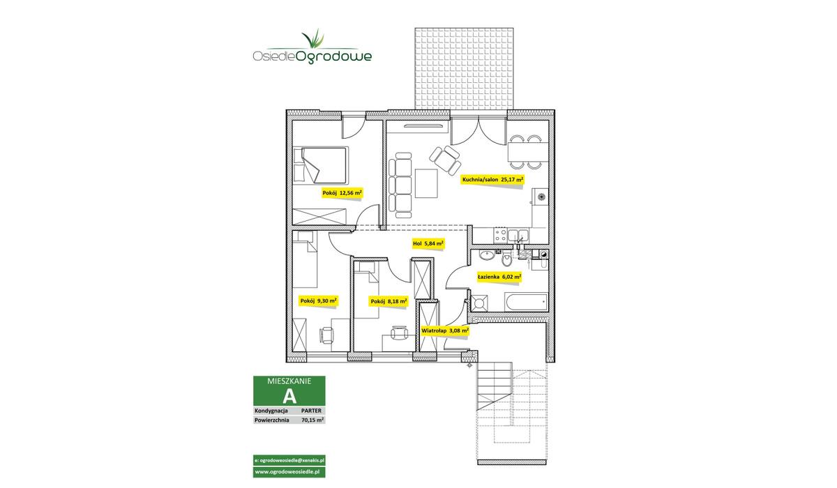 Mieszkanie w inwestycji Osiedle Ogrodowe - Świętochłowice, Świętochłowice, 70 m²   Morizon.pl   7537