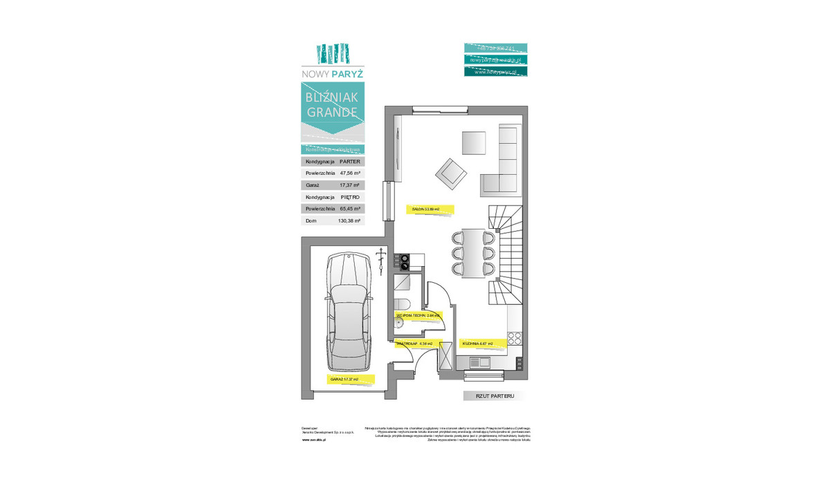 Dom w inwestycji Nowy Paryż - Ruda Śląska, Ruda Śląska, 130 m² | Morizon.pl | 2072