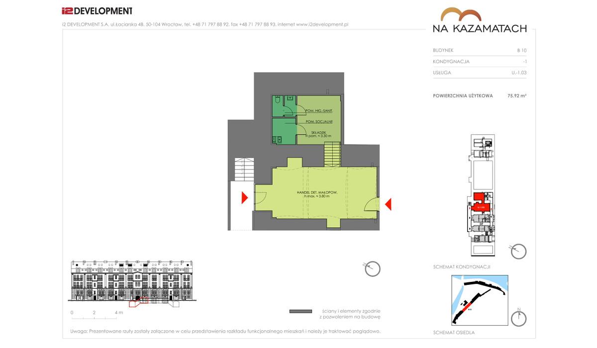Lokal użytkowy w inwestycji Na Kazamatach, Wrocław, 70 m² | Morizon.pl | 6681