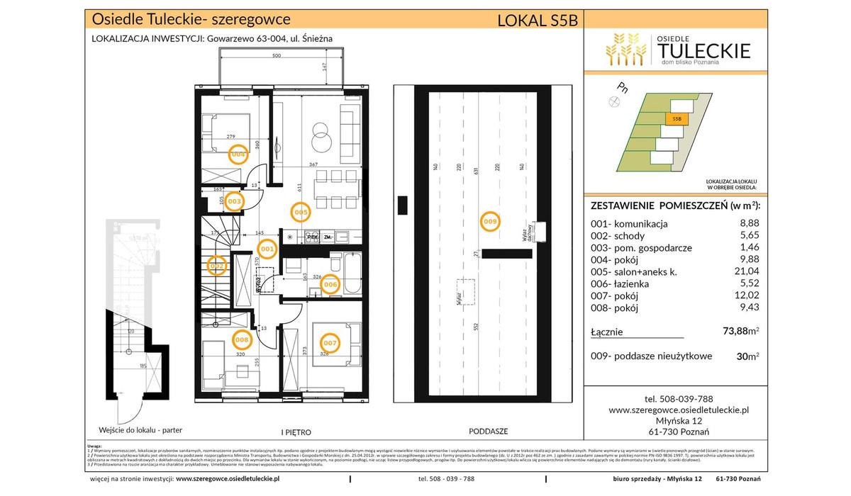 Dom w inwestycji OSIEDLE TULECKIE, Gowarzewo, 74 m² | Morizon.pl | 6801