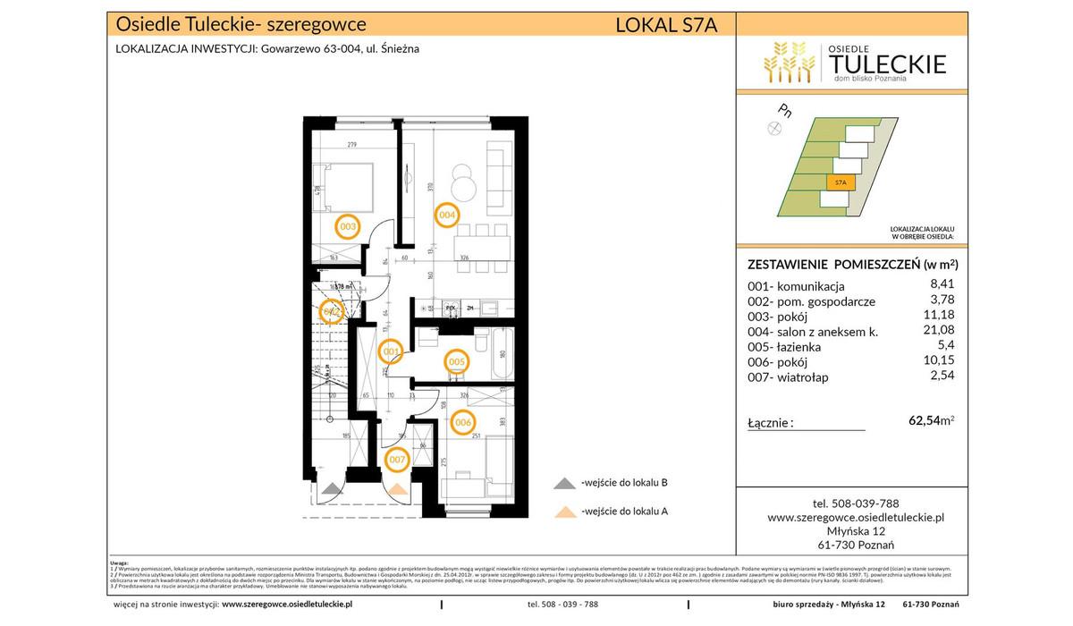 Dom w inwestycji OSIEDLE TULECKIE, Gowarzewo, 63 m² | Morizon.pl | 6803