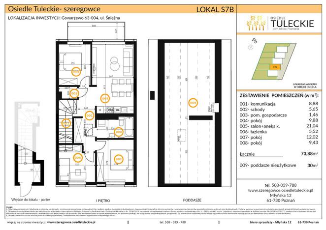 Dom w inwestycji OSIEDLE TULECKIE, Gowarzewo, 74 m² | Morizon.pl | 6804