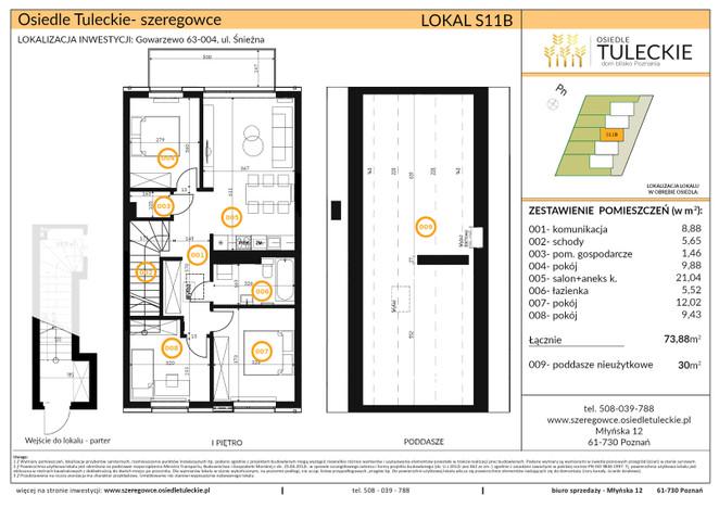 Dom w inwestycji OSIEDLE TULECKIE, Gowarzewo, 74 m² | Morizon.pl | 6905
