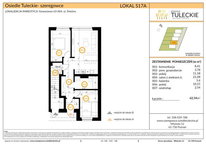 Dom w inwestycji OSIEDLE TULECKIE, Gowarzewo, 63 m²   Morizon.pl   6912