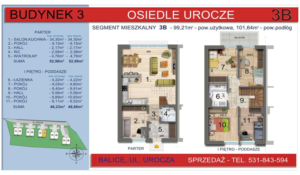 Dom w inwestycji Osiedle Urocze, Balice, 99 m² | Morizon.pl | 3467