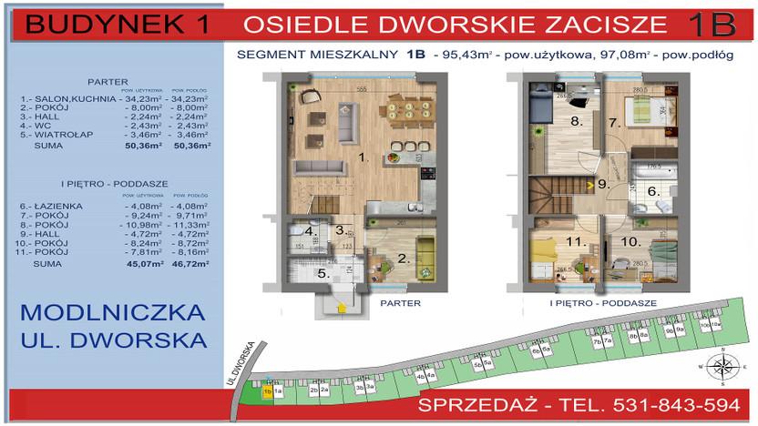 Dom w inwestycji Osiedle Dworskie Zacisze, Modlniczka, 95 m² | Morizon.pl | 3743