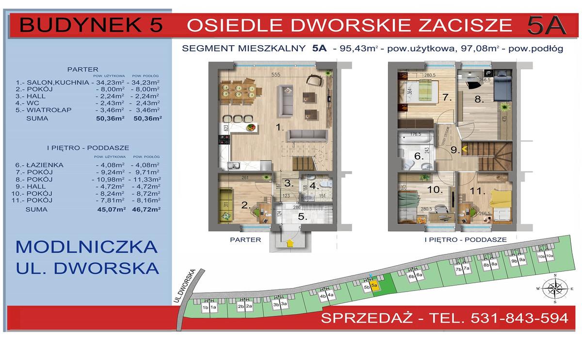 Dom w inwestycji Osiedle Dworskie Zacisze, Modlniczka, 95 m² | Morizon.pl | 3750