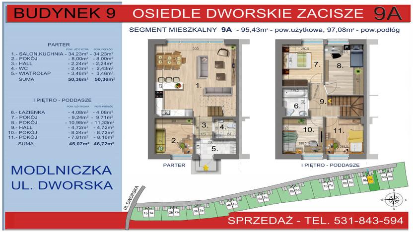 Dom w inwestycji Osiedle Dworskie Zacisze, Modlniczka, 95 m² | Morizon.pl | 3758