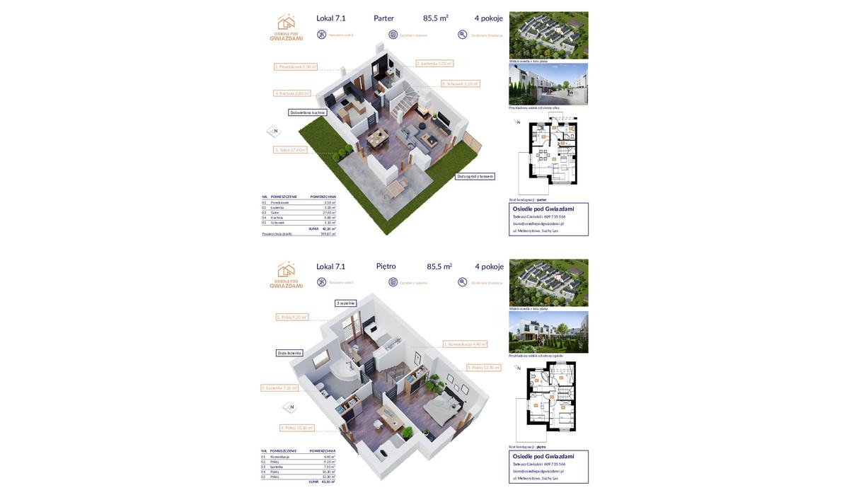 Dom w inwestycji Osiedle Pod Gwiazdami, Suchy Las, 86 m² | Morizon.pl | 1075