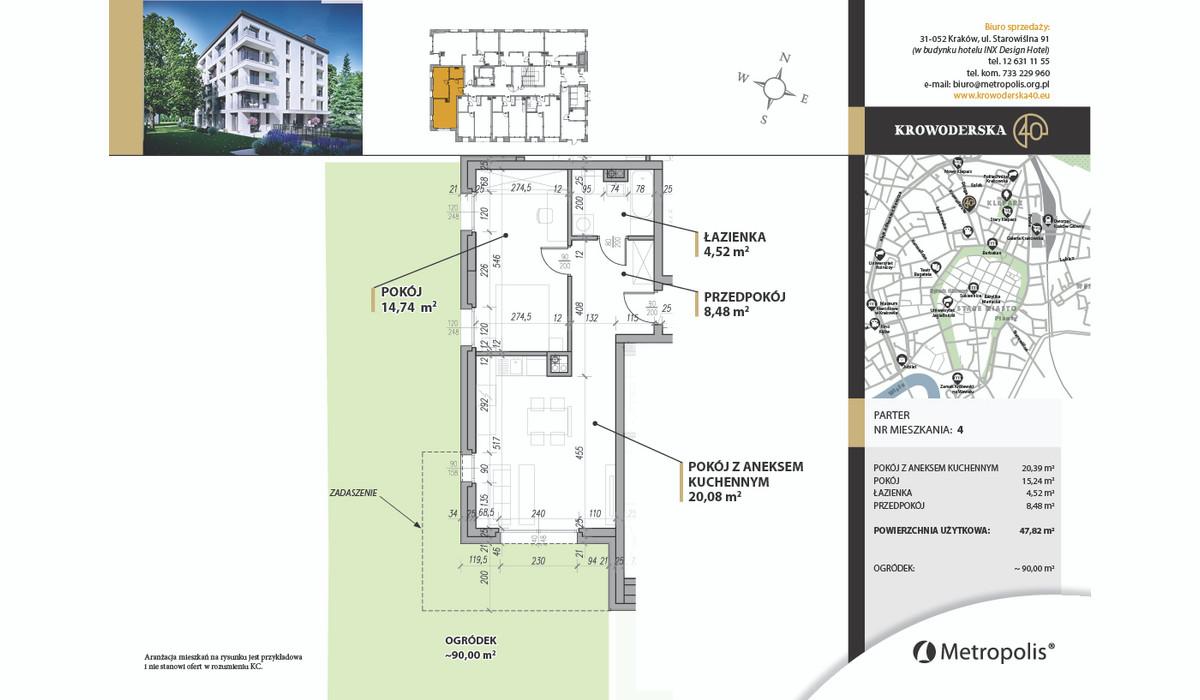Mieszkanie w inwestycji Krowoderska40, Kraków, 48 m² | Morizon.pl | 7088