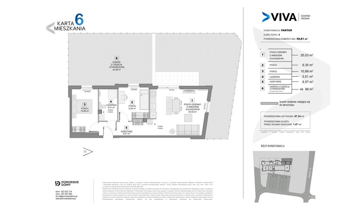 Mieszkanie w inwestycji VIVA, Gdańsk, 59 m² | Morizon.pl | 6879