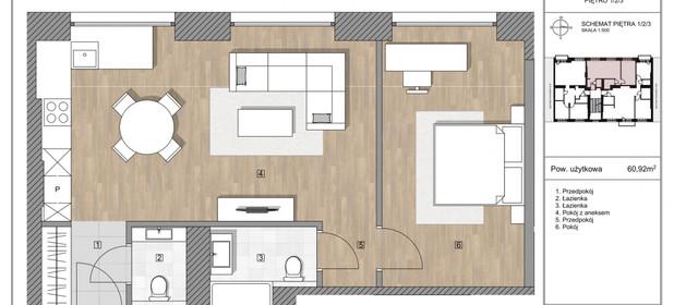 Mieszkanie na sprzedaż 59 m² Warszawa Mokotów Wierzbno Puławska - zdjęcie 2
