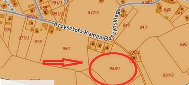 Działka na sprzedaż 734 m² Kędzierzyńsko-Kozielski Kędzierzyn-Koźle Krzysztofa Kamila Baczyńskiego - zdjęcie 2