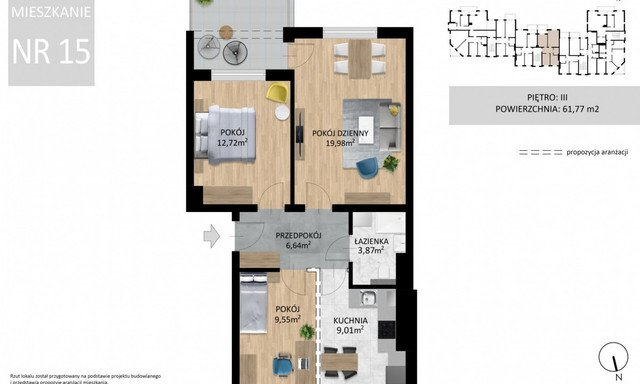 Mieszkanie na sprzedaż <span>Lublin, Wrotków, Ignacego Domeyki</span>