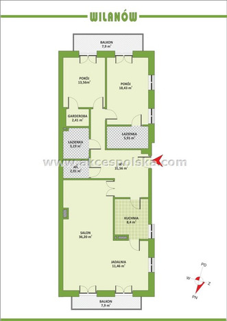 Morizon WP ogłoszenia | Mieszkanie na sprzedaż, Warszawa Powsinek, 127 m² | 3914