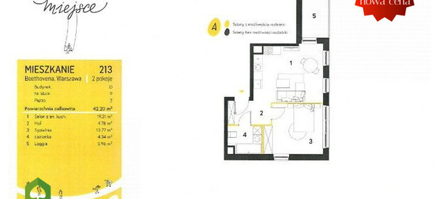 Mieszkanie na sprzedaż 42 m² Warszawa Mokotów Warszawa Mokotów Ludwiga Van Beethovena - zdjęcie 2