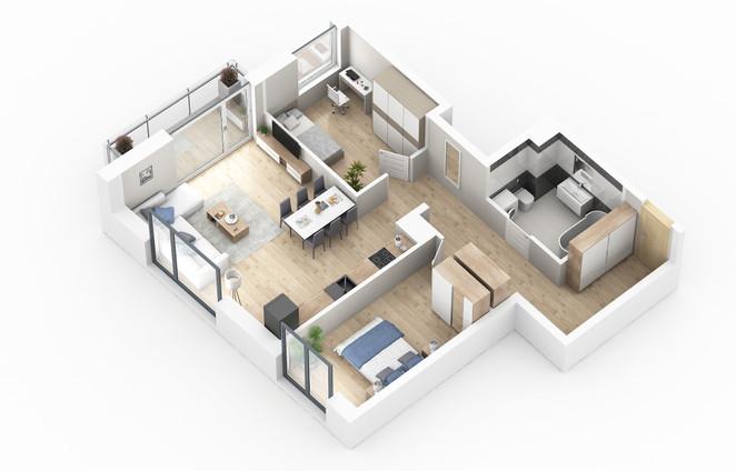 Morizon WP ogłoszenia | Mieszkanie w inwestycji MS CENTER, Radzymin, 70 m² | 6924
