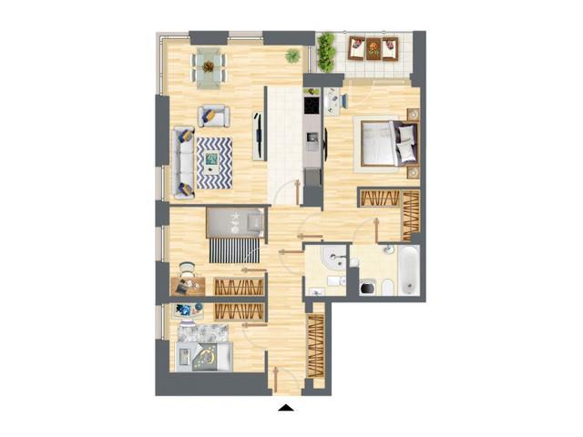 Morizon WP ogłoszenia | Mieszkanie w inwestycji Słowackiego 77, Gdańsk, 86 m² | 5208