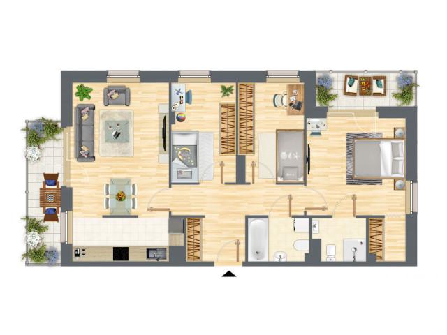 Morizon WP ogłoszenia | Mieszkanie w inwestycji Słowackiego 77, Gdańsk, 86 m² | 5231
