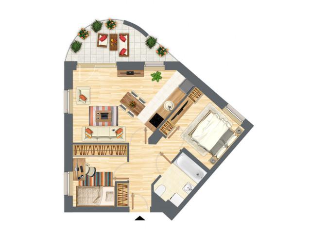 Morizon WP ogłoszenia | Mieszkanie w inwestycji Słowackiego 77, Gdańsk, 54 m² | 5297