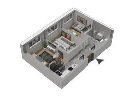 Morizon WP ogłoszenia | Mieszkanie w inwestycji KW51, Kraków, 45 m² | 1287
