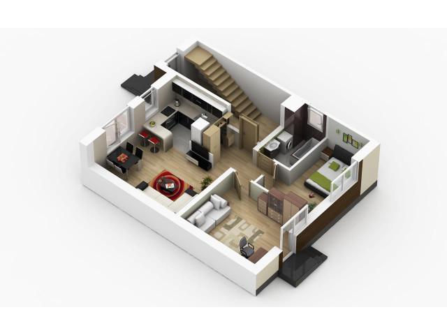 Morizon WP ogłoszenia | Mieszkanie w inwestycji Mieszkania SKR, Kąty Wrocławskie (gm.), 60 m² | 9979