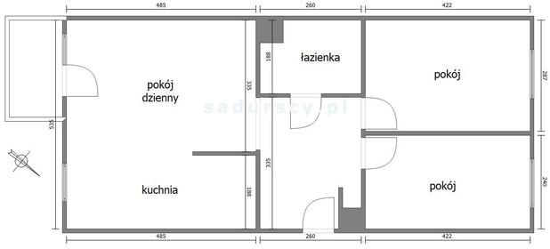 Mieszkanie do wynajęcia 61 m² Kraków M. Kraków Prądnik Biały, Prądnik Biały Białoprądnicka - zdjęcie 3